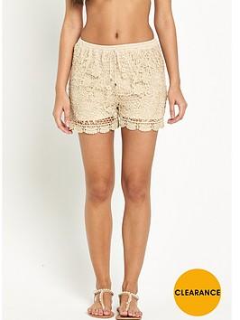 v-by-very-metallic-crochet-shorts