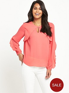 v-by-very-frill-long-sleeve-blouse