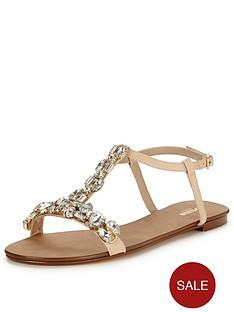 dune-nakeetanbspembellished-sandal