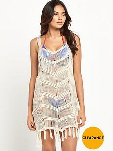 v-by-very-crochet-tassel-beach-vest-dress