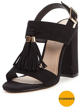 v-by-very-pine-block-heel-tassel-front-sandals