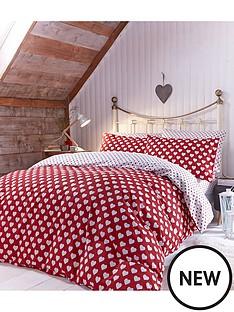 brushed-cotton-hearts-duvet-set-redwhite