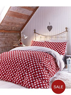 brushed-cotton-hearts-duvet-set-redwhite