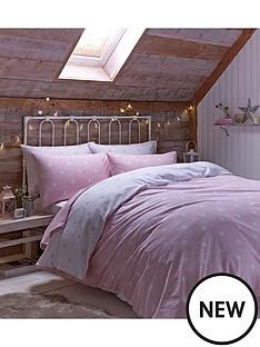 brushed-cotton-polka-dot-duvet-set-pink