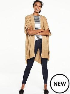 v-by-very-split-side-rib-hem-sleeveless-cardigan