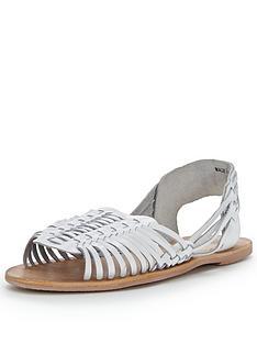 warehouse-huarachenbspcaged-flat-sandalsnbsp