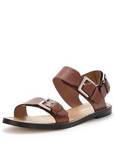 warehouse-two-part-stud-round-flat-sandal