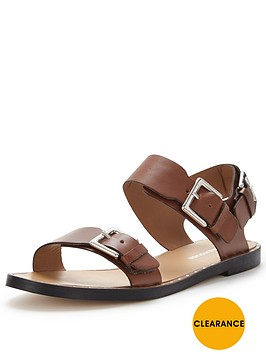 warehouse-two-part-stud-round-flat-sandal