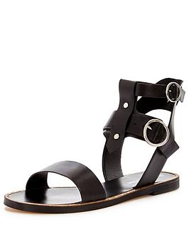 warehouse-double-buckle-round-sandal