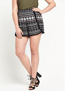 so-fabulous-printed-fringe-detail-shorts