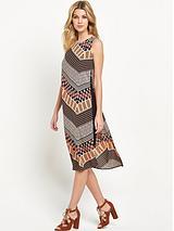 Chevron Tabbard Dress