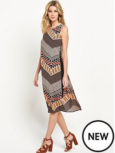 wallis-wallis-chevron-tabbard-dress