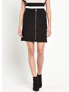 wallis-zip-front-mini-skirt