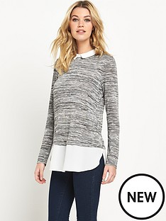 wallis-wallis-textured-knit-shirt-hem-jumper