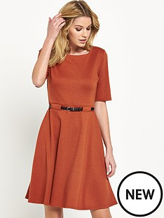 wallis-ponte-fit-and-flare-dress