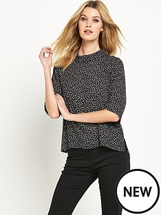 wallis-spot-roll-neck-jumper