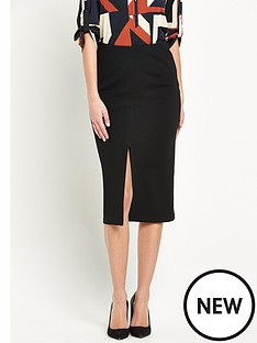 wallis-midi-split-front-skirt