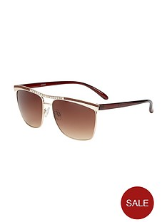 v-by-very-diamante-detail-brow-bar-sunglasses-gold