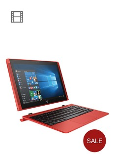 hp-pavilion-x2-10-n102nanbspintelreg-atomtrade-x5-2gb-ram-32gb-storage-101-inch-touchscreen-2-in-1-laptop-ndash-red