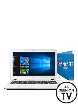 acer-aspire-e5-573-intelreg-coretrade-i3-processor-4gb-ram-1tb-hard-drive-156-inch-laptop-with-mcafee-livesafe-and-optional-microsoft-office-365-home-ndash-white