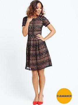 myleene-klass-lace-panel-skater-dress