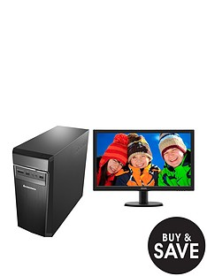 lenovo-h50-55-amd-a10-processor-12gb-ram-2tb-hard-drive-236-inch-desktop-base-unit-and-amd-2gb-dedicated-graphics-r7-35-with-optional-1-years-subscription-to-microsoft-office-365-personal