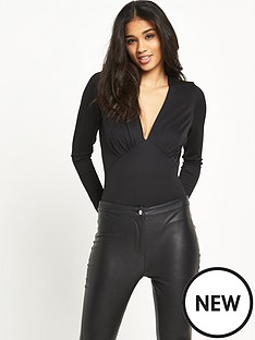 river-island-plunge-long-sleeved-bodysuit