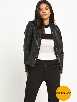 river-island-fitted-pu-jacketnbsp