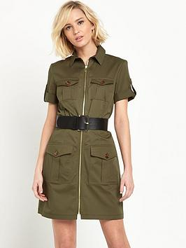 river-island-military-zip-dress