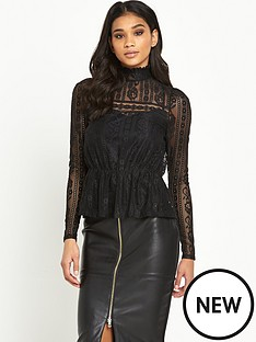 river-island-lace-high-neck-topnbsp