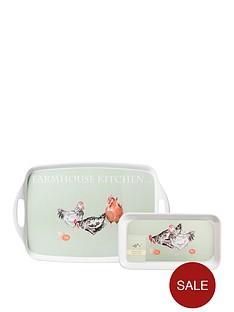 price-kensington-farmhouse-kitchen-handled-trays-pack-of-2