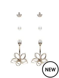 oasis-3-pack-flower-cuff-earrings