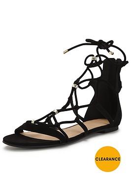 v-by-very-walnut-lace-up-gold-stud-sandal