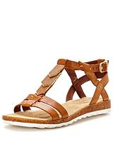 Bretta Jade Flat Leather Sandal