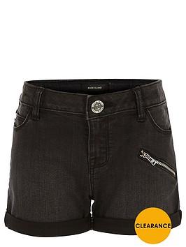 river-island-girls-black-denim-shorts