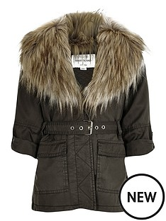 river-island-girls-khaki-belted-faux-fur-parka-jacket