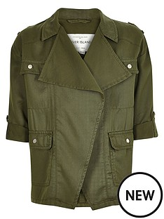 river-island-girlsnbspkhaki-draped-front-jacket