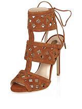 Laser Cut High Heel Sandals