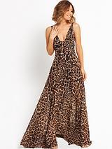 Leopard Sleeveless Maxi Dress