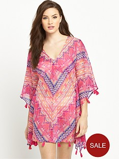 v-by-very-printed-tassle-kaftan