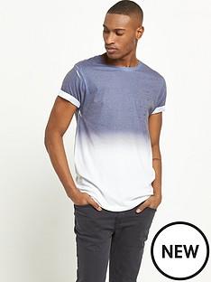 river-island-navy-faded-print-short-sleeve-tshirt