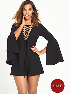 rochelle-humes-eyelet-playsuit