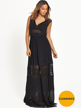 rochelle-humes-crochet-tie-front-maxi-dress