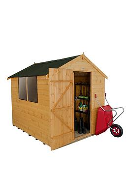 forest-6-x-8ft-single-door-2-window-shiplap-dip-treated-apex-shed-with-onduline-roof-with-optional-base-and-assembly