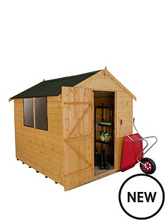forest-8-x-6ft-sinlge-door-2-window-shiplap-dip-treated-apex-shed-with-onduline-roof-with-optional-assembly