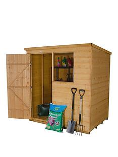 forest-4-x-6ft-single-door-1-window-shiplap-dip-treated-pent-shed-with-optional-assembly