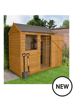 forest-6-x-4ft-single-door-2-window-overlap-dip-treated-pent-shed-with-optional-assembly-and-base