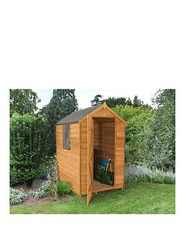 forest-4-x-6ft-single-door-and-1-window-overlap-dip-treated-apex-shed-with-optional-base-assembly