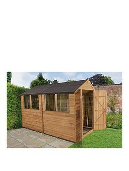 forest-6-x-10ft-double-door-with-4-windows-overlap-dip-treated-apex-shed-with-optional-assembly