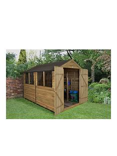 forest-10-x-8ft-double-door-4-window-overlap-pressure-treated-apex-shed-with-windows-with-optional-assembly
